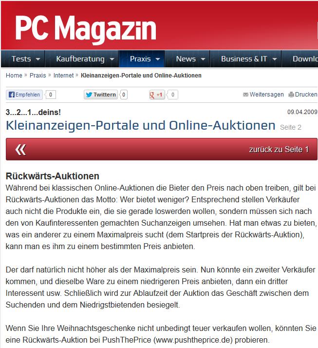 a84c95f1dd Den kompletten Artikel lesen Sie in nachfolgendem Link: http://www.pc- magazin.de/ratgeber/teil-2-kleinanzeigen-portale-und-online -auktionen-238967.html
