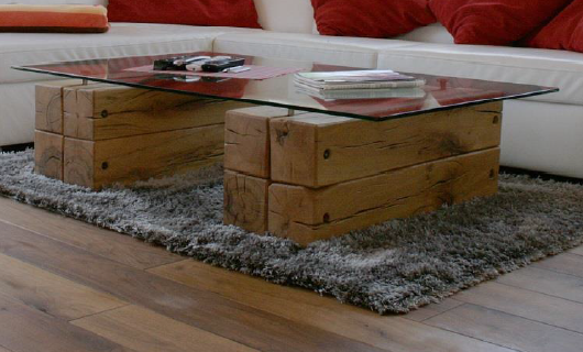Suche: Wohnzimmer-Tisch Balken und Glas - Möbel & Wohnen ...